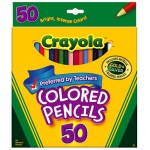 Crayola Colored Pencils: Peggable, Assorted Colors, Full Length, 50 Count