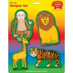 Creative Shapes Notepad: Zoo Animals Set, Large