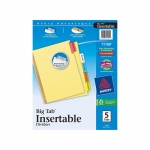 Avery Worksaver Big Tab Insertable Dividers 5 Tab Set