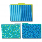 Bubbly Blues Folders 6pk
