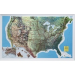 "American Education U.S. Relief Map: 34"" x 21"", Rand Black Frame"