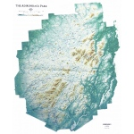 Adirondack National Park Map: Gold Frame