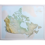 American Education Canada Map: Gold Frame