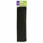 Chenille Stems Black 12 Inch