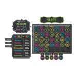 Chalkboard Brights Calendar Bb Set