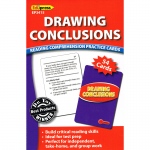 Drawing Conclusions Reading Comprehension Practice Cards Red