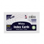White 3x5 Ruled Index Cards 100pk