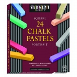 24ct Portrait Color Artists Chalk Pastels Lift Lid Box