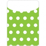 Brite Pockets Grn Polka Dots 25/bag Peel & Stick
