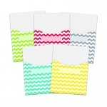 Chevron Solids 9x12 Library Pockets