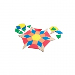 Giant Foam Floor Pattern Blocks 49 Pcs