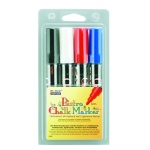 Bistro Chalk Markers Brd Tip 4 Clr Set Black Red Blue White