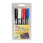 Bistro Chalk Markers Chisel Tip 4 Clr Set White Black Red Blue