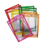Reusable Dry Erase Pckets 10pk Neon 2 Each Of 5 Colors