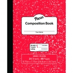 Marble Composition Book Gr 3 Red 3/8in Ruled