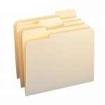 Smead Letter Size File Folders Mani Manila Box Of 100 Single Ply