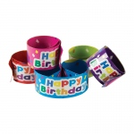Slap Bracelets Happy Birthday Balloons