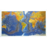 Scott Resources & Hubbard Scientific Ocean Floor Map Raised Relief Map