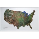 "Scott Resources & Hubbard Scientific United States Satellite Map: 34"" x 21"" Size"