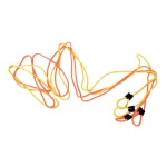 Yellowtails Double-Dutch Jump Rope: Orange/Yellow, 16 feet Length, Set of 2