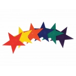 "American Education Marker: Star, Assorted Colors, 9"" Width, Set of 6"