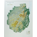 Hubbard Scientific Raised Relief Map: Adirondack National Park, New York