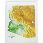 Hubbard Scientific Raised Relief Map: Arizona State