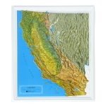 American Education Raised Relief Map: California NCR Series