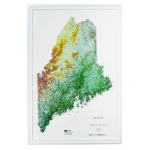Hubbard Scientific Raised Relief Map: Maine State