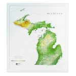 Hubbard Scientific Raised Relief Map: Michigan State