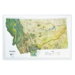 American Education Raised Relief Map: Montana NCR Series