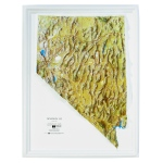 American Education Raised Relief Map: Nevada NCR Series
