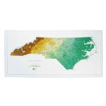 Hubbard Scientific Raised Relief Map: North Carolina State Map