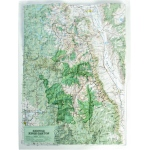 Hubbard Scientific Raised Relief Map: Sequoia-Kings Canyon National Park