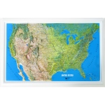 American Education Raised Relief Map: U.S. NCR Series, Mainland Only
