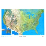 "Hubbard Scientific Raised Relief Map: U.S. NCR Series, 42"" x  28"""