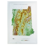 Hubbard Scientific Raised Relief Map: Vermont/New Hampshire State