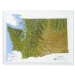 American Education Raised Relief Map: Washington NCR Series