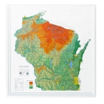 American Education Raised Relief Map: Wisconsin State