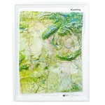 American Education Raised Relief Map: Wyoming NCR Series