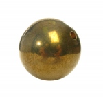 "Ginsberg 1"" Brass Ball with Hole"