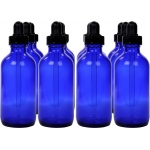 Cobalt Blue Bottle with Dropper Assembly: 4 Oz., Pack of 12