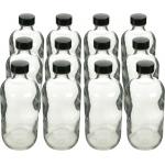 Boston Round Flint Bottles with Cap: 8 Oz., 24/400, Pack of 12