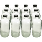 Boston Round Flint Bottles with Cap: 16 Oz., 28/400, Pack of 12
