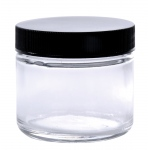 Wide Mouth Flint Jar with Cap: 2 Oz., 53/400