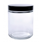 Wide Mouth Flint Jar with Cap: 8 Oz., 70/400