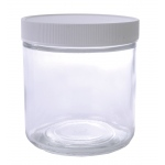 Wide Mouth Flint Jar with Cap: 16 Oz., 89/400