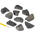 Igneous Rocks Basalt: Gray To Black, Pack of 10