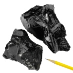 Igneous Rocks Obsidian: Black, 1 Kg