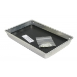 "Ginsberg Aluminum Dissecting Pan with Tie Clips & Wax: 11.25"" x 7.5"" x 1.5"""